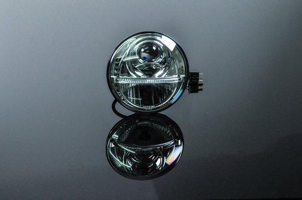 csc light bomb 7 bi led scheinwerfer f r harley davidson. Black Bedroom Furniture Sets. Home Design Ideas
